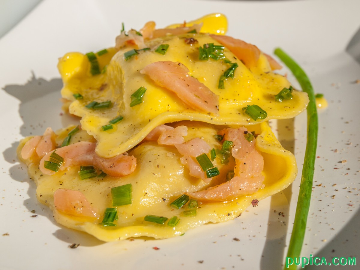 Ravioli with Salmon and Chives
