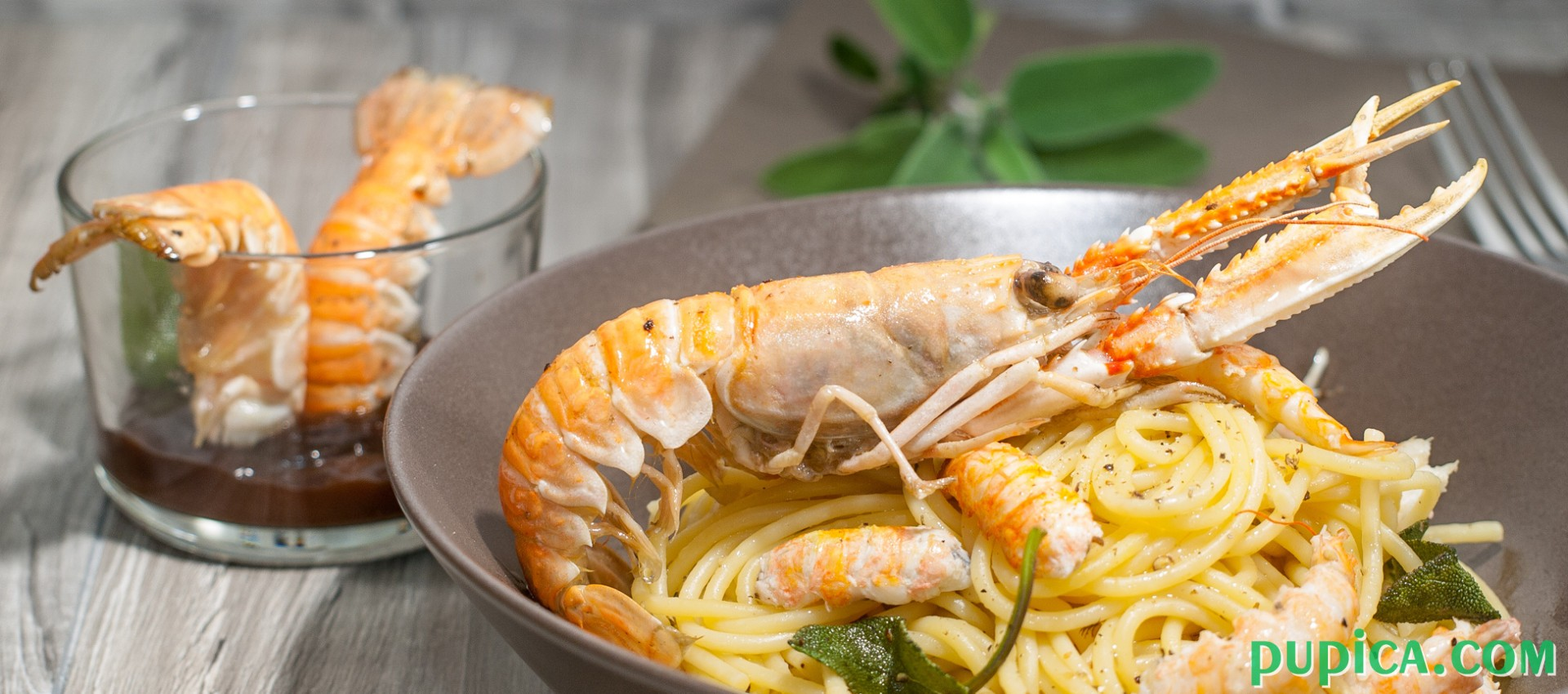 Pasta with langoustine,butter and sage